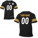 Toddler Pittsburgh Steelers Customized Game Black Jersey