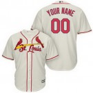 Toddler St Louis Cardinals Customized Gream Cool Base Jersey