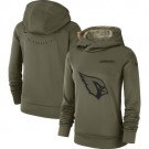 Women's Arizona Cardinals Olive Salute To Service Printed Pullover Hoodie