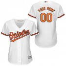 Women's Baltimore Orioles Customized White Cool Base Jersey