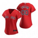 Women's Boston Red Sox Customized Red Alternate 2020 Cool Base Jersey