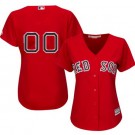 Women's Boston Red Sox Customized Red Cool Base Jersey