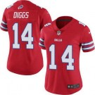 Women's Buffalo Bills #14 Stefon Diggs Limited Red Rush Color Jersey