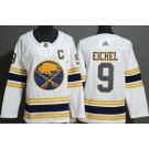 Women's Buffalo Sabres #9 Jack Eichel White 50th Anniversary Authentic Jersey