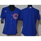 Women's Chicago Cubs Blank Blue Cool Base Jersey