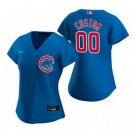 Women's Chicago Cubs Customized Blue Alternate 2020 Cool Base Jersey