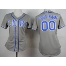 Women's Chicago Cubs Customized Grey Cool Base Jersey