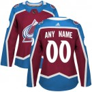 Women's Colorado Avalanche Customized Red Authentic Jersey