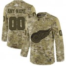 Women's Detroit Red Wings Customized Camo Authentic Jersey