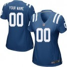 Women's Indianapolis Colts Customized Game Blue Jersey