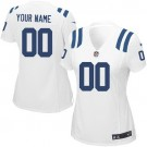 Women's Indianapolis Colts Customized Game White Jersey