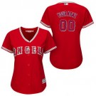 Women's Los Angeles Angels Customized Red Cool Base Jersey