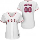 Women's Los Angeles Angels Customized White Cool Base Jersey