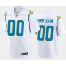 Women's Los Angeles Chargers Customized Limited White 2020 Vapor Untouchable Jersey