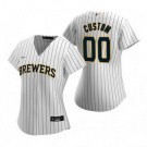 Women's Milwaukee Brewers Customized White Stripes 2020 Cool Base Jersey