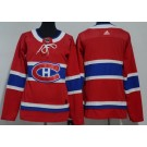 Women's Montreal Canadiens Blank Red Jersey