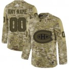 Women's Montreal Canadiens Customized Camo Authentic Jersey