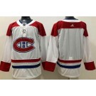 Women's Montreal Canadiens Customized White Authentic Jersey