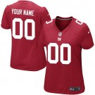 Women's New York Giants Customized Game Red Jersey