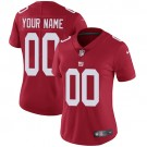 Women's New York Giants Customized Limited Red Vapor Untouchable Jersey