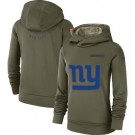 Women's New York Giants Olive Salute To Service Printed Pullover Hoodie