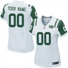 Women's New York Jets Customized Game White Jersey