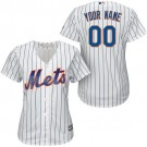 Women's New York Mets Customized White Cool Base Jersey