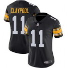 Women's Pittsburgh Steelers #11 Chase Claypool Limited Black Alternate Vapor Untouchable Jersey
