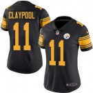 Women's Pittsburgh Steelers #11 Chase Claypool Limited Black Rush Color Jersey