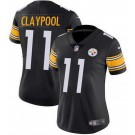 Women's Pittsburgh Steelers #11 Chase Claypool Limited Black Vapor Untouchable Jersey