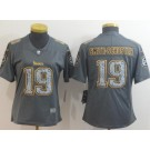 Women's Pittsburgh Steelers #19 JuJu Smith Schuster Limited Gray Static Vapor Untouchable Jersey