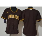 Women's San Diego Padres Blank Brown 2020 Cool Base Jersey