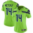 Women's Seattle Seahawks #14 DK Metcalf Limited Green Rush Color Jersey