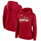 Women's Tampa Bay Buccaneers Red 2021 Super Bowl LV Champions Pullover Hoodie 210330