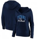 Women's Tennessee Titans Victory Script V Neck Pullover Hoodie
