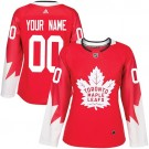 Women's Toronto Maple Leafs Customized Red Authentic Jersey