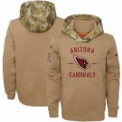 Youth Arizona Cardinals Khaki 2019 Salute to Service Therma Printed Pullover Hoodie