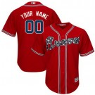 Youth Atlanta Braves Customized Red Cool Base Jersey