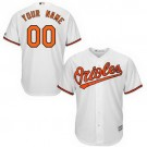 Youth Baltimore Orioles Customized White Cool Base Jersey