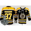 Youth Boston Bruins #37 Patrice Bergeron Black 2019 Stanley Cup Finals Jersey