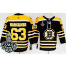 Youth Boston Bruins #63 Brad Marchand Black 2019 Stanley Cup Finals Jersey