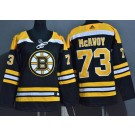Youth Boston Bruins #73 Charlie McAvoy Black Authentic Jersey