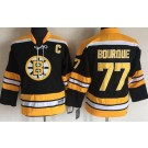Youth Boston Bruins #77 Ray Bourque Black Throwback Jersey