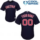Youth Boston Red Sox Customized Navy Blue Cool Base Jersey