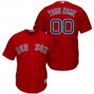 Youth Boston Red Sox Customized Red Cool Base Jersey