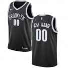 Youth Brooklyn Nets Customized Black Icon Swingman Nike Jersey