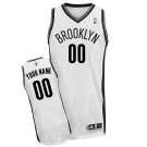 Youth Brooklyn Nets Customized White Swingman Adidas Jersey