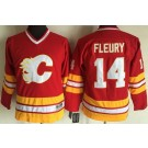 Youth Calgary Flames #14 Theoren Fleury Red Throwback Jersey