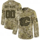 Youth Calgary Flames Customized Camo Authentic Jersey