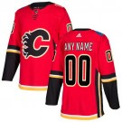 Youth Calgary Flames Customized Red Authentic Jersey
